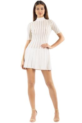 Misha Collection - Marianne Mini Dress - Ivory - Front