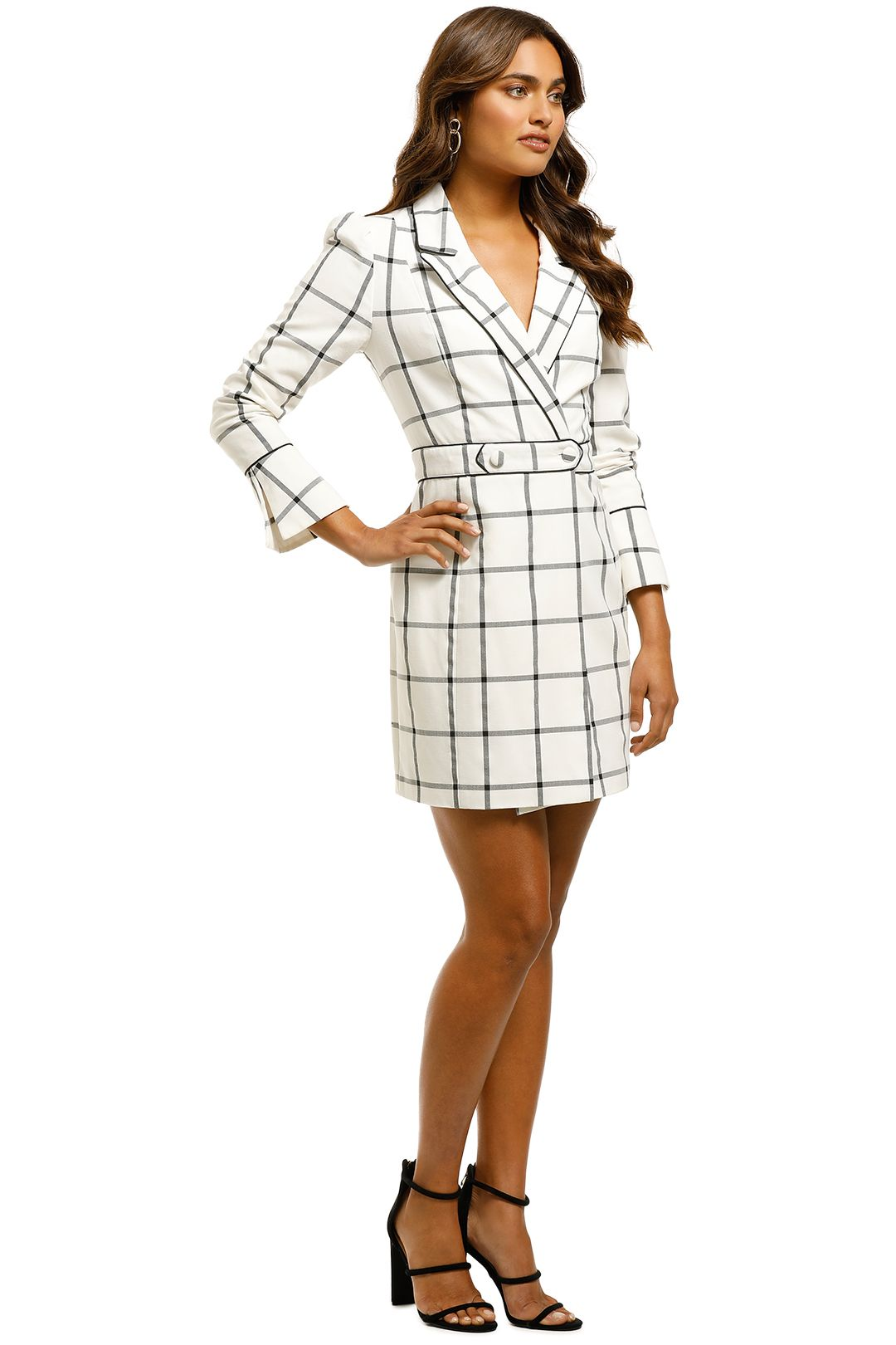 Misha Collection - Rachelle Blazer Dress - Check - Side