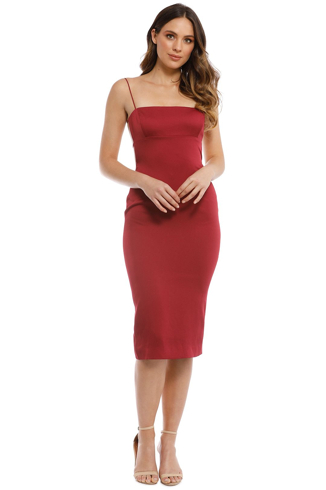 Misha Collection - Sara Midi Dress - Plum - Front