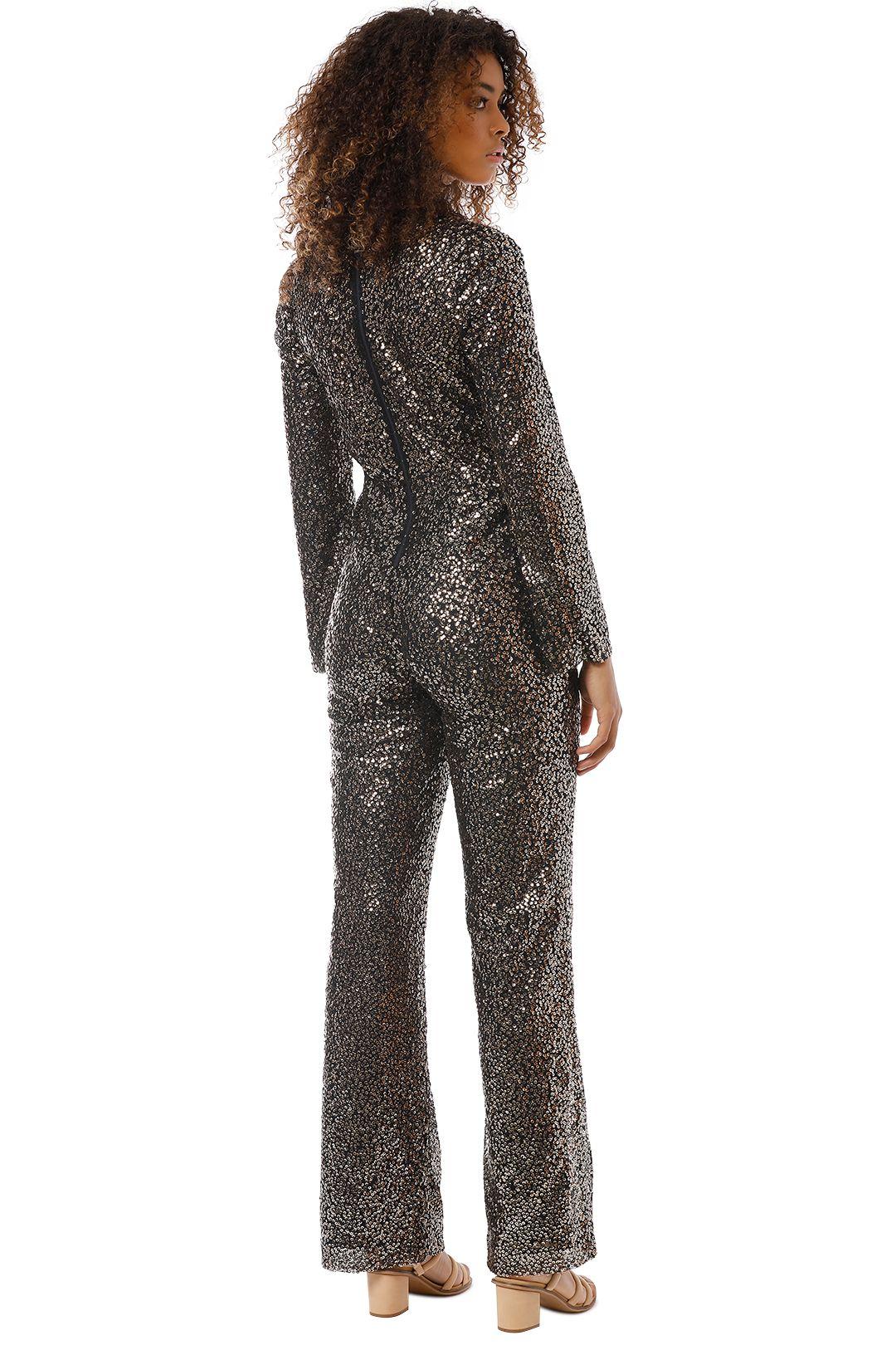 Misha Collection - Sharnie Pantsuit - Black Gold - Back