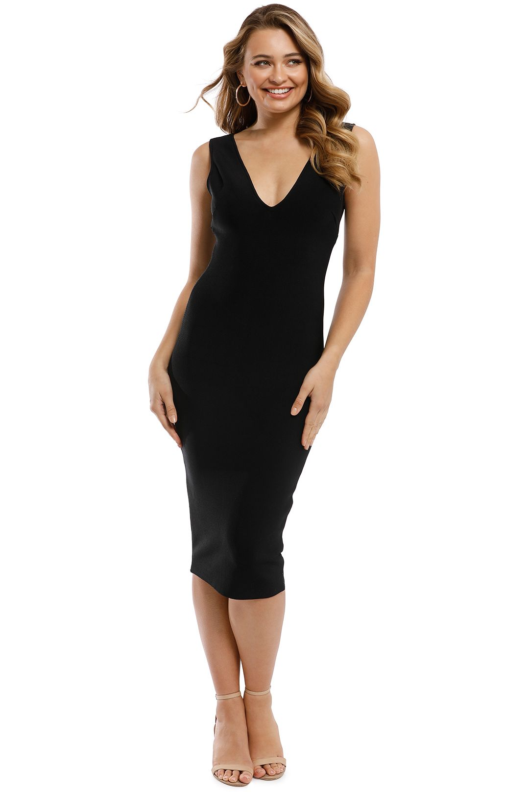 Misha Collection - Solange Bandage Dress - Black - Front