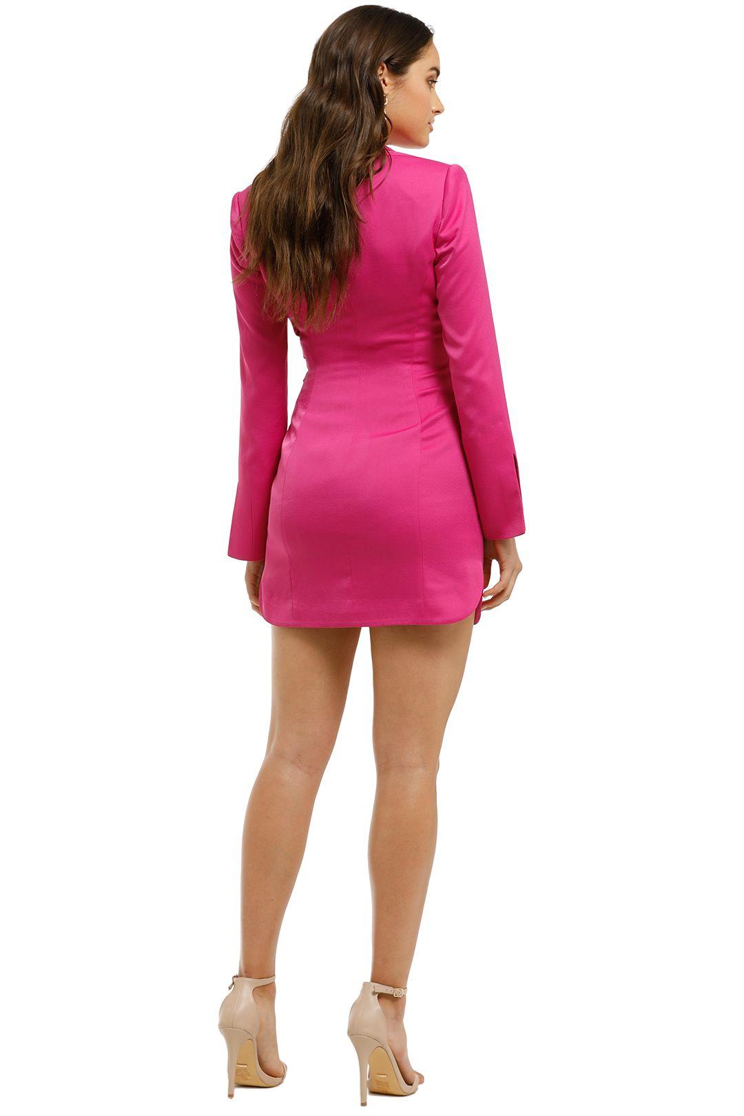 Misha Collection - Teagan Dress - Fuschia - Back