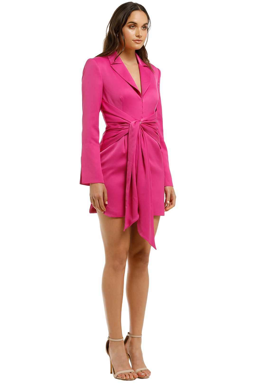 Misha Collection - Teagan Dress - Fuschia - Side