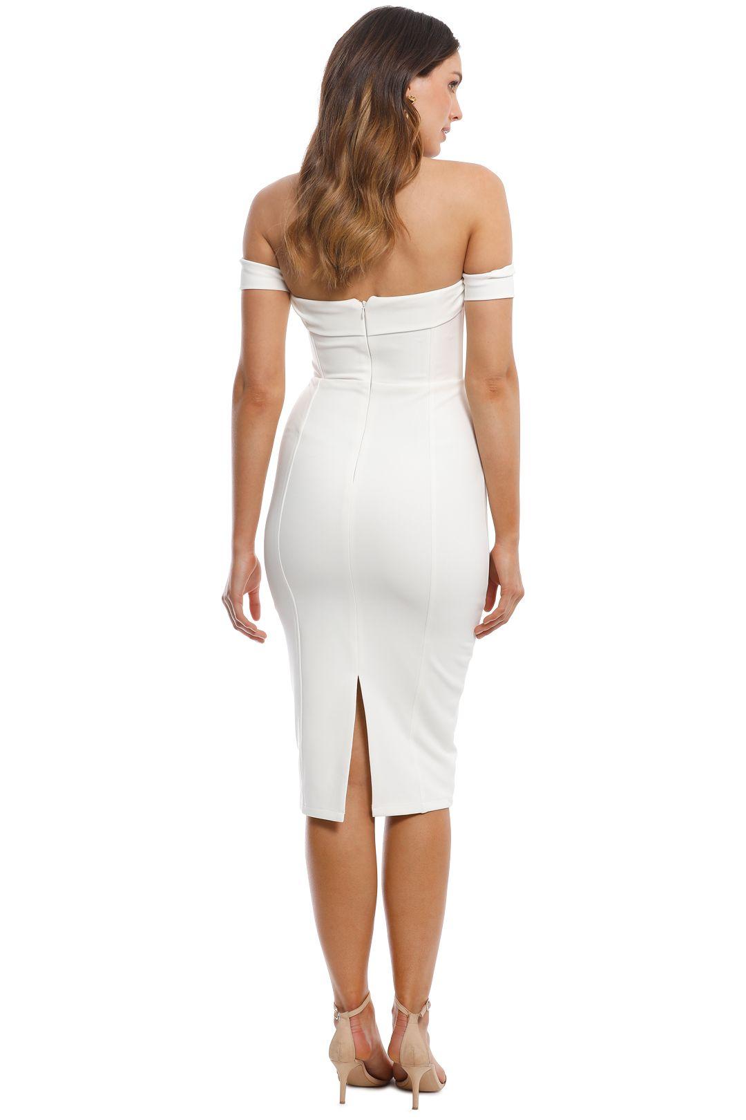 Misha Collection - Chloe Dress - Ivory - Back
