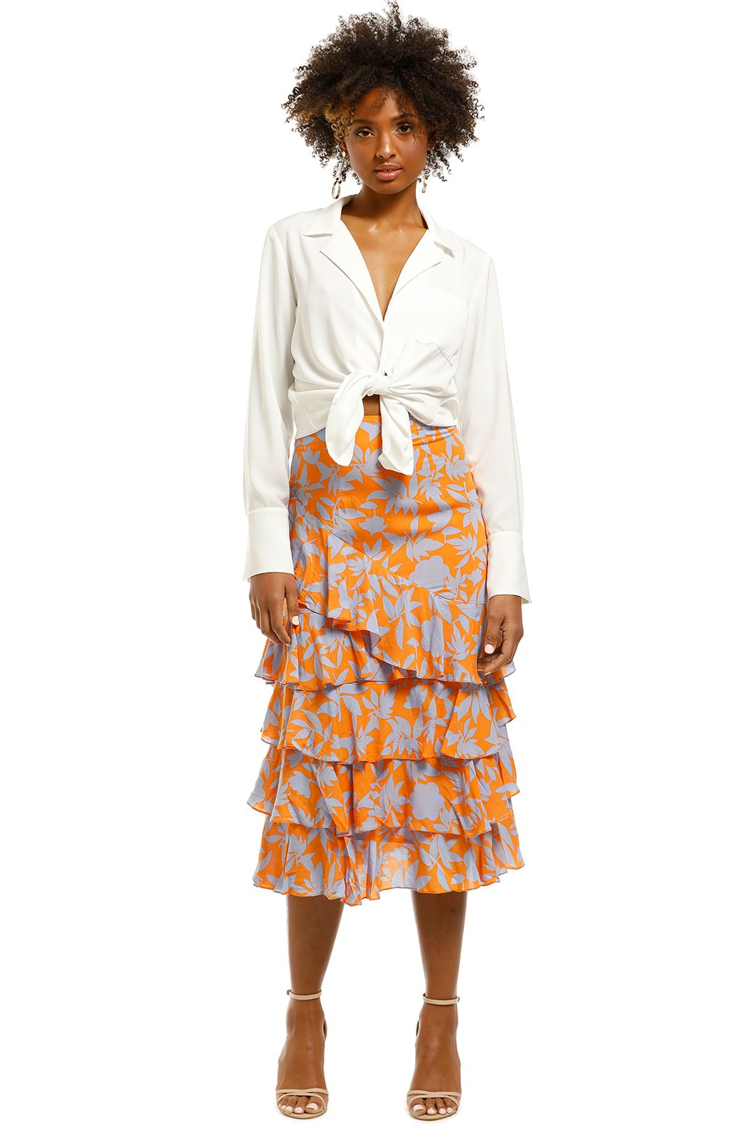 MLM-Label-Luciano-Midi-Skirt-Essence-Floral-Neon-Front