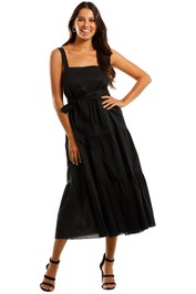 MLM Label Flora Midi Dress Black