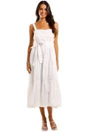 MLM Label Flora Midi Dress White
