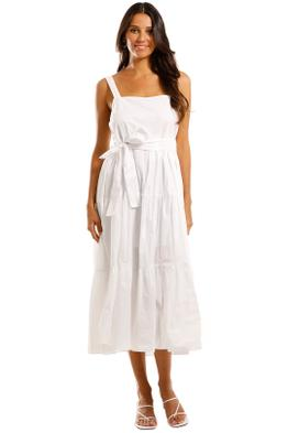 MLM Label Flora Midi Dress White