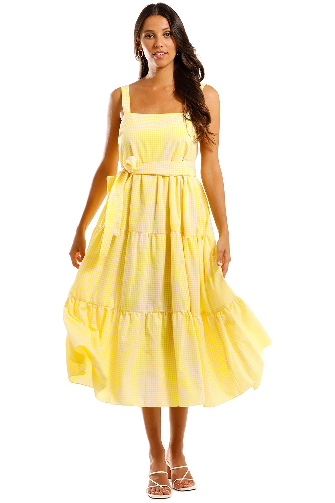 MLM Label Flora Midi Yellow Check