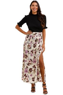 MLM Label Tome Skirt Aster Floral Light High Slit
