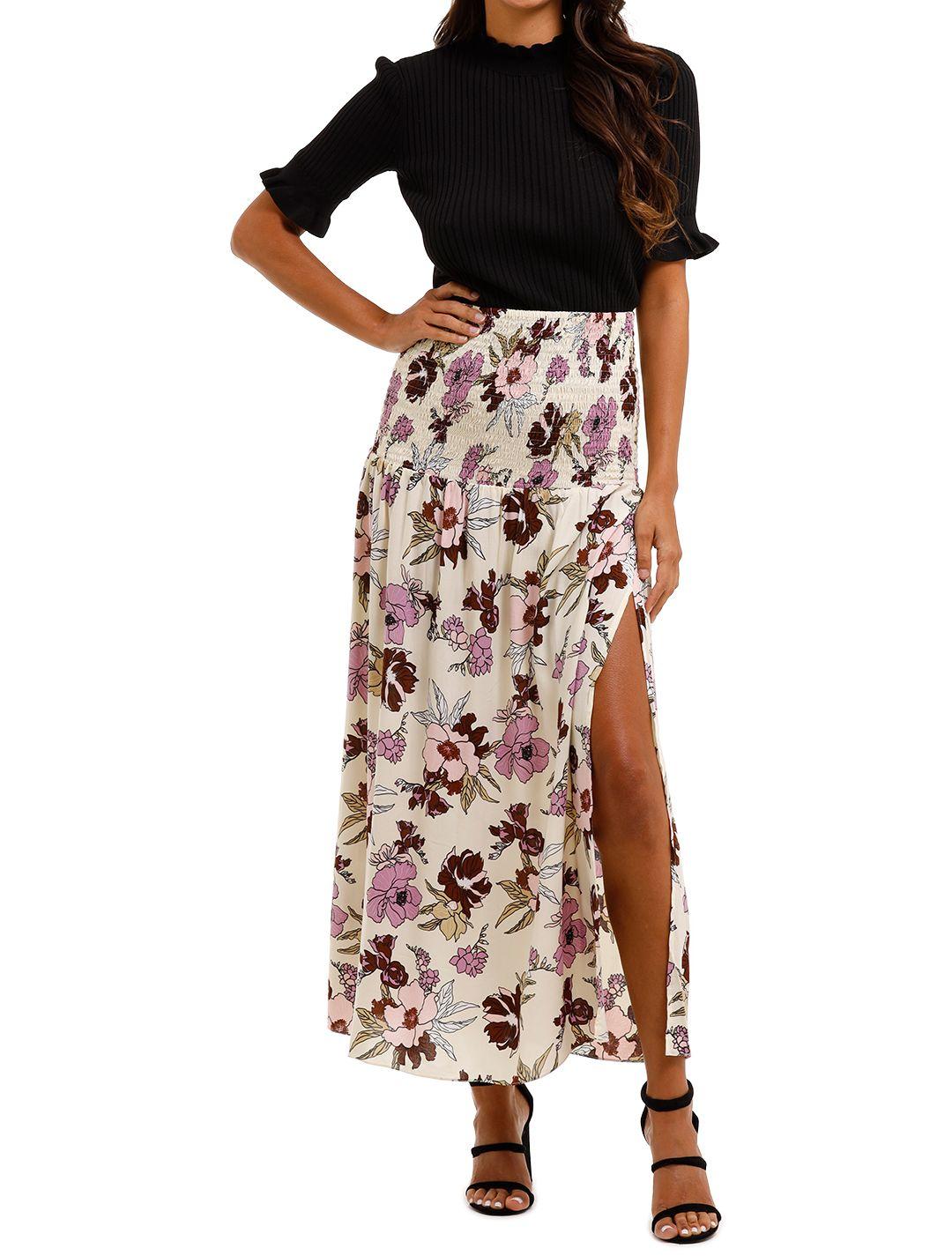 MLM Label Tome Skirt Aster Floral Light High Slit