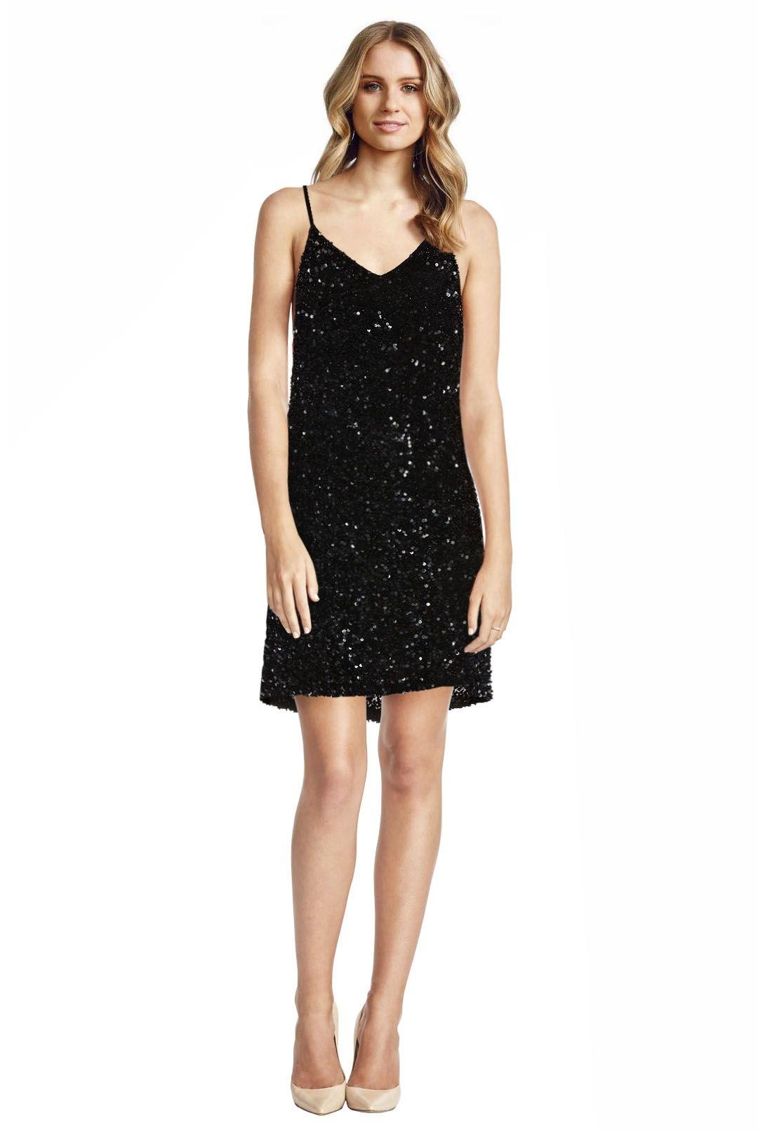 MLV - Olivia Mini Sequin Dress - Black - Front