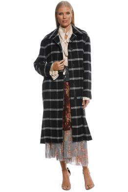 MNG - Mummy Checkered Coat - Black - Front