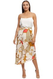 MNG - Naomi Chain Print Skirt - Brown - Front