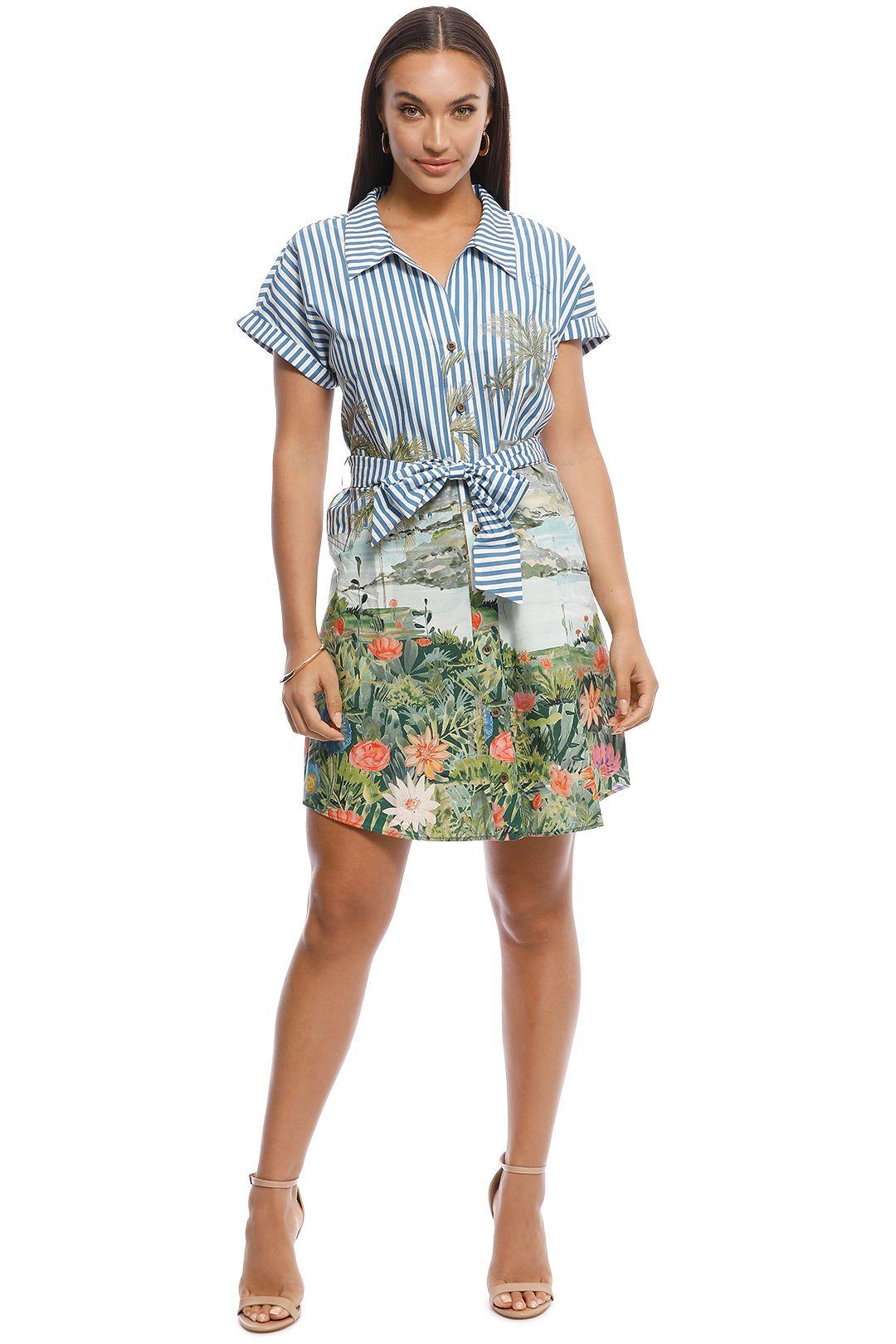 MNG - Simba-H Bow Shirt Dress - Print - Front
