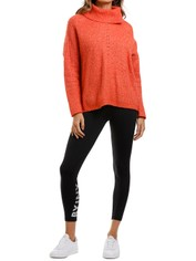 MNG Cowl Neck Sweater Burnt Orange