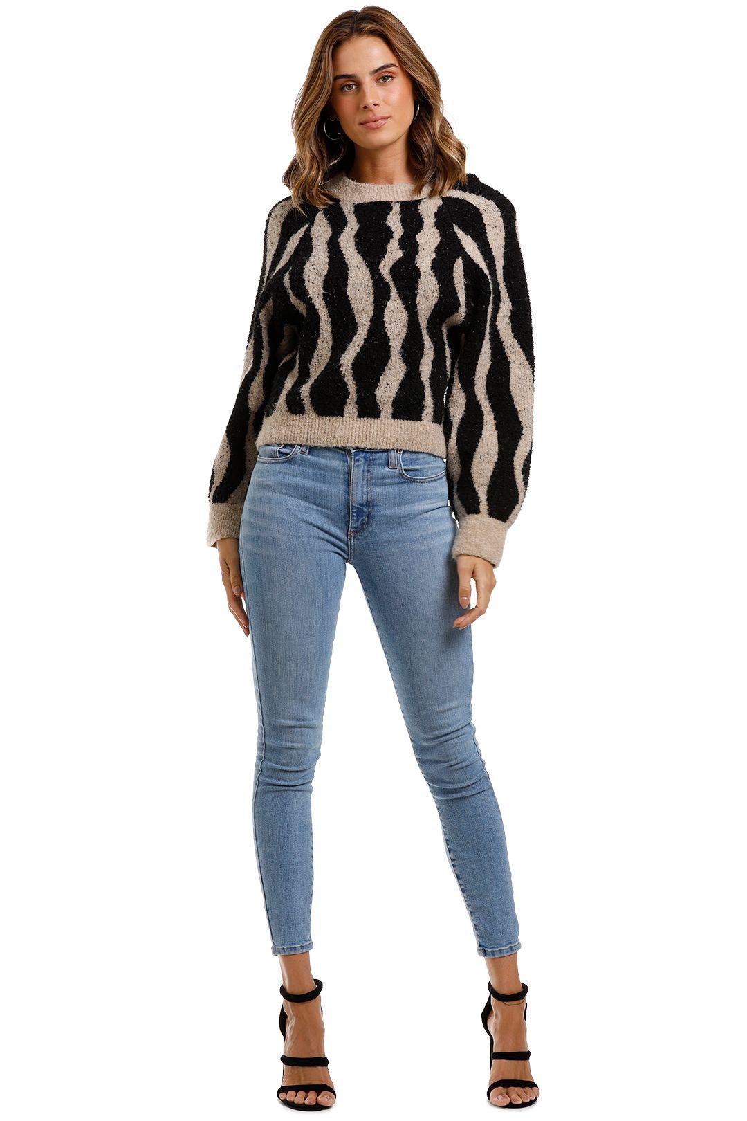 MNG Jacquard Sweater Animal Print