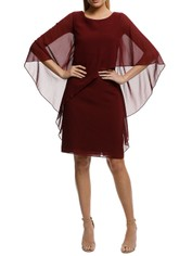 Montique-Ciana Cocktail Dress Wine-Wine-Front