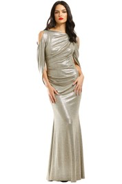 Montique-Lana-Metallic-Gown-Gold-Front