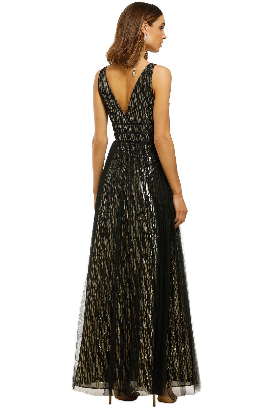 Montique-Mirabella-Lurex-Gown-Black-Gold-Back