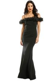 Montique-Mischa-Organza-Rose-Black-Gown-Black-Front
