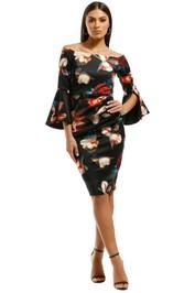 Montique-Petra-Printed-Scuba-Dress-Print-Floral-Front