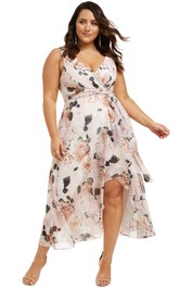 Montique-Rosie-Print-Chiffon-Dress-Blush-Front