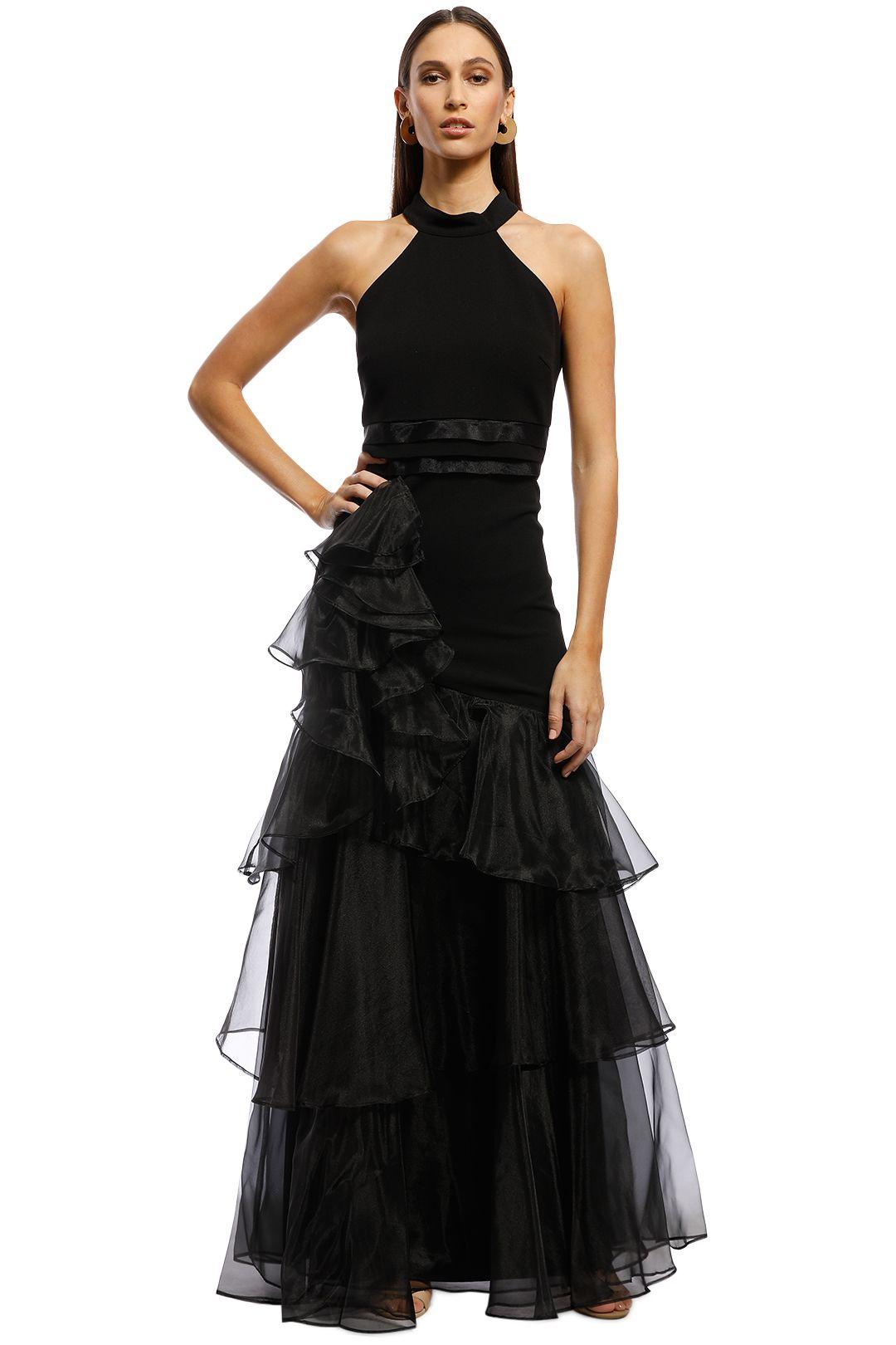 Montique - Caprice Halter Gown - Black - Front