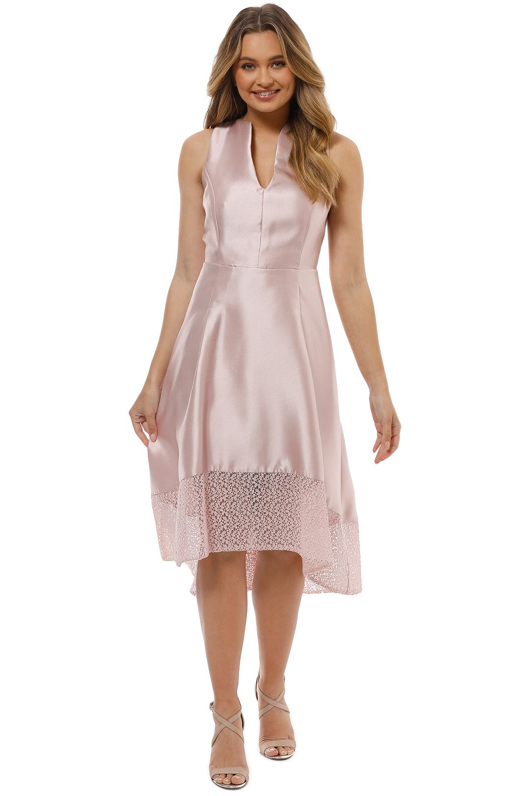 Montique - Chantelle Party Dress - Pink - Front