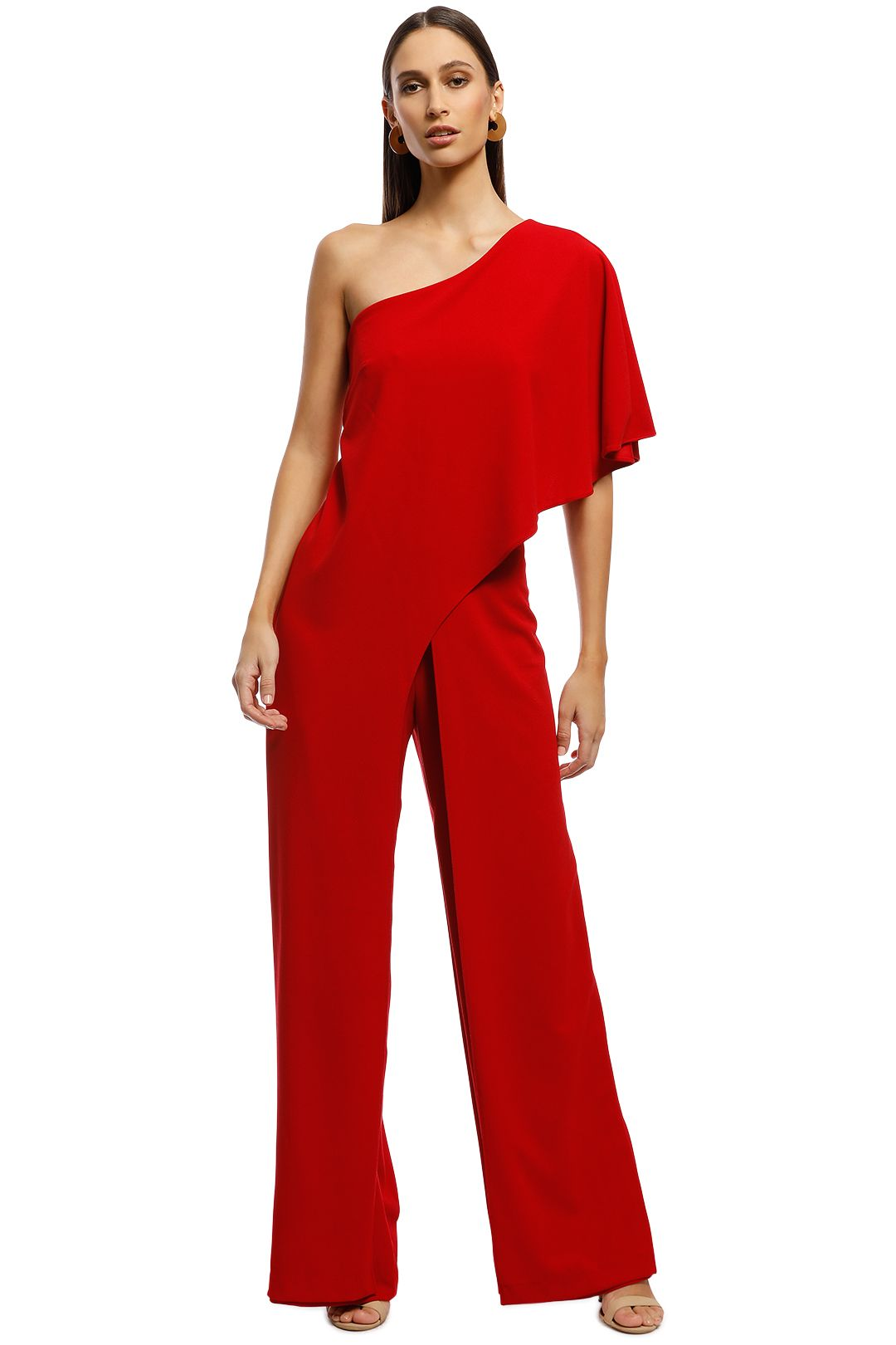 Montique - Harper Jumpsuit - Red - Front
