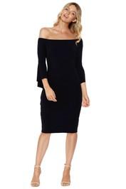 Montique - Miranda Jersey Bell Sleeve Dress - Front