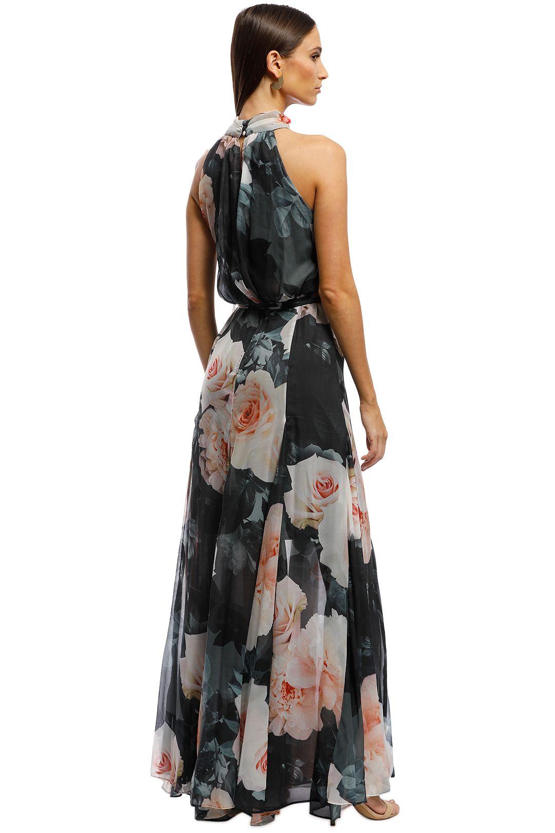 Montique - Vanessa Gown - Black Floral - Back