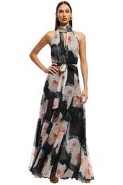 Montique - Vanessa Gown - Black Floral - Front
