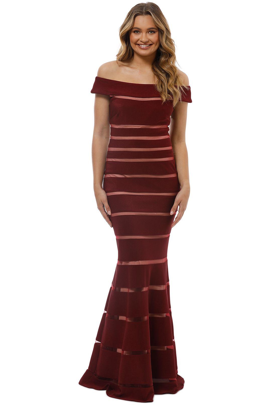 Montique - Scarlett Bodycon Gown - Front