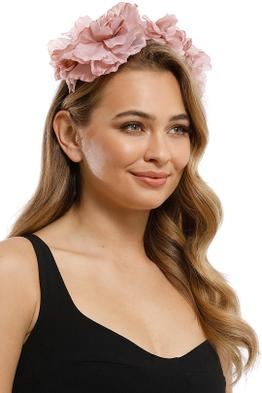Morgan and Taylor - Alexa Fascinator - Dusty Pink - Product