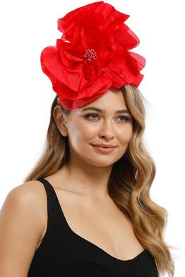 Morgan and Taylor - Cindy Fascinator - Red - Product