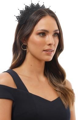 Morgan and Taylor - Elizabella Fascinator - Black - Product Image