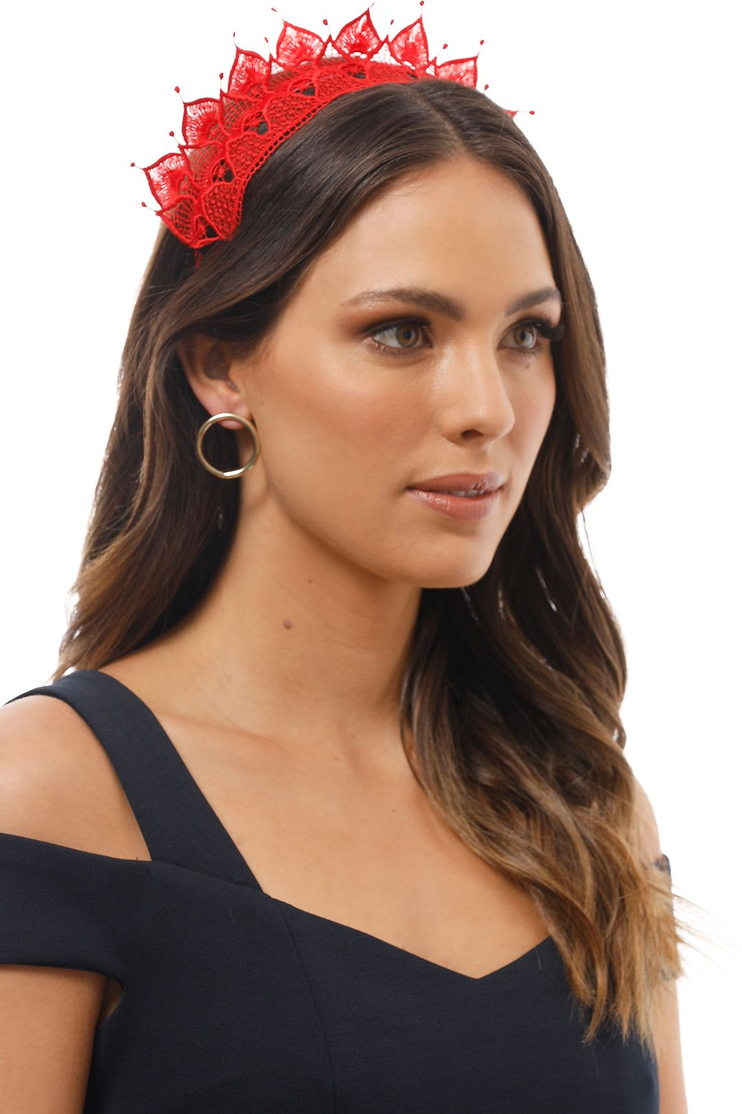 Morgan and Taylor - Elizabella Fascinator - Red - Product Image
