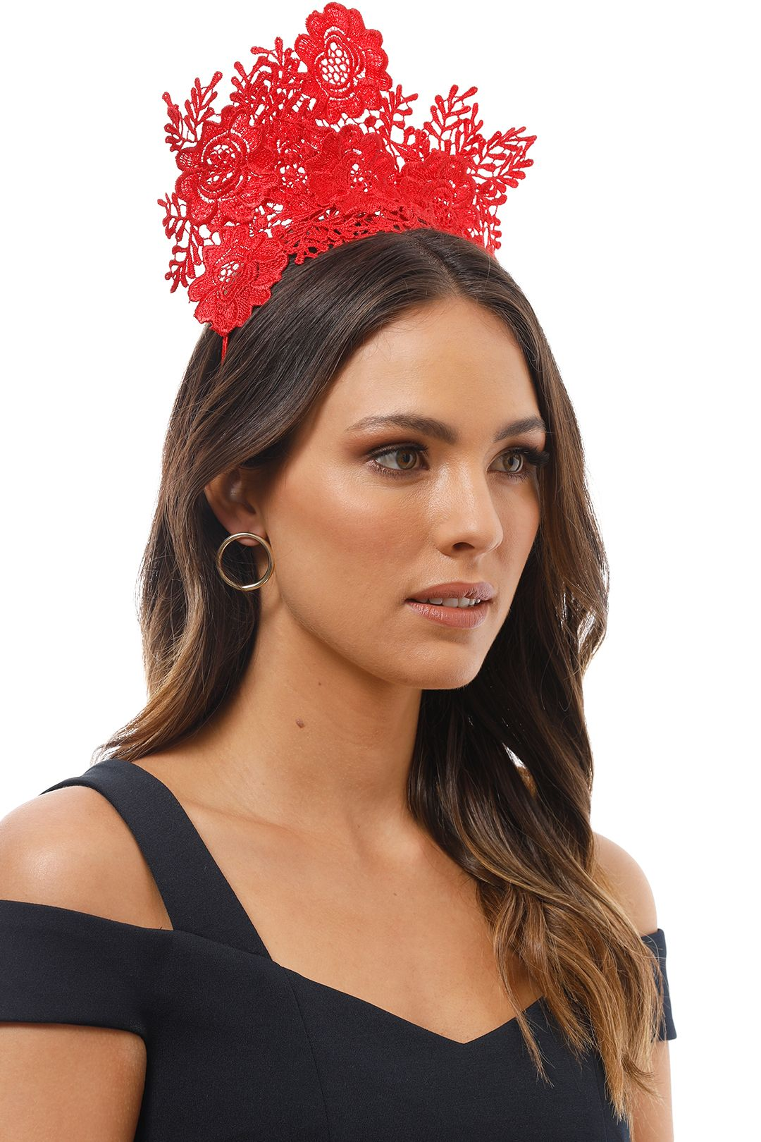 Morgan and Taylor - Gracelyn Fascinator - Red - Product Image