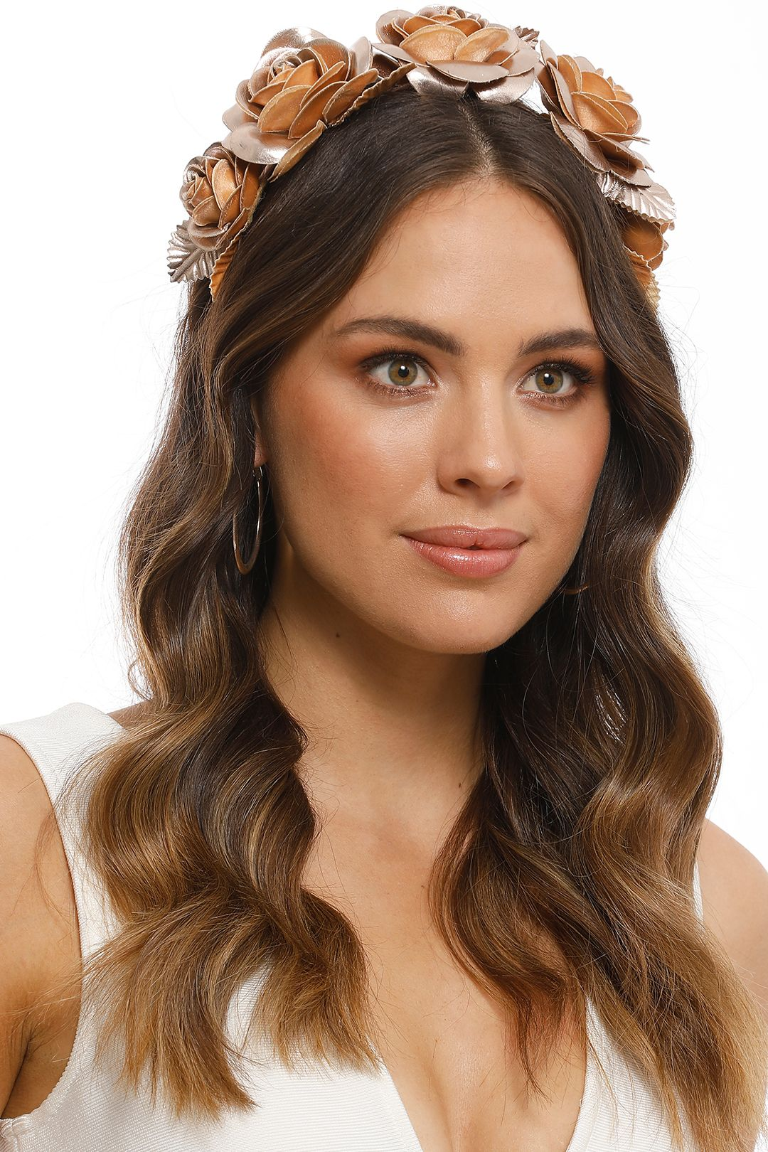Morgan and Taylor - Rose Fascinator - Rose Gold - Front
