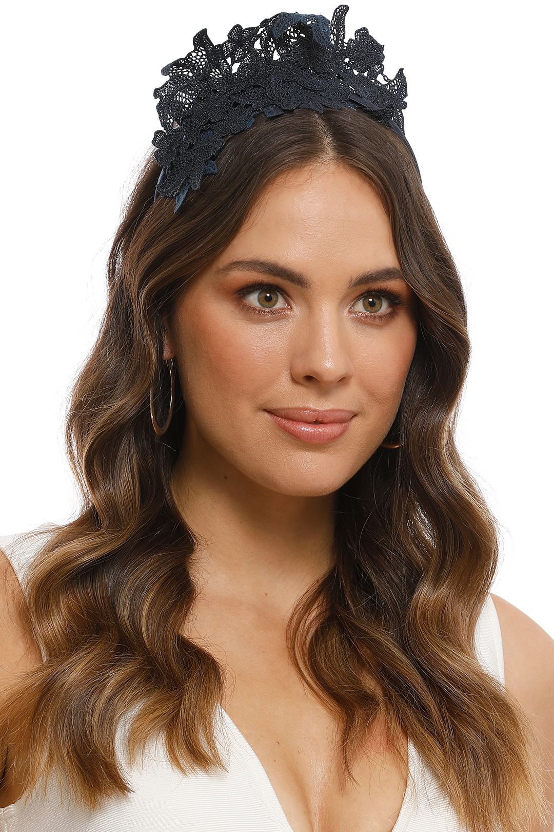 Morgan and Taylor - Sassi Fascinator - Navy - Front