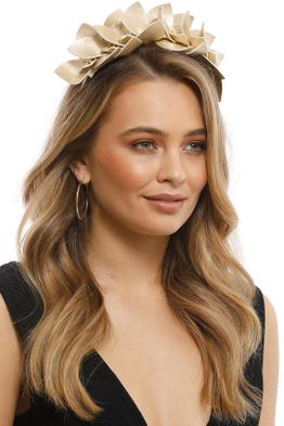 Morgan & Taylor - Adele Fascinator - Gold - Front