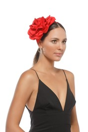 Morgan & Taylor - Amy Fascinator - Red - Side Model