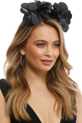 Morgan & Taylor - Celine Fascinator - Black - Front