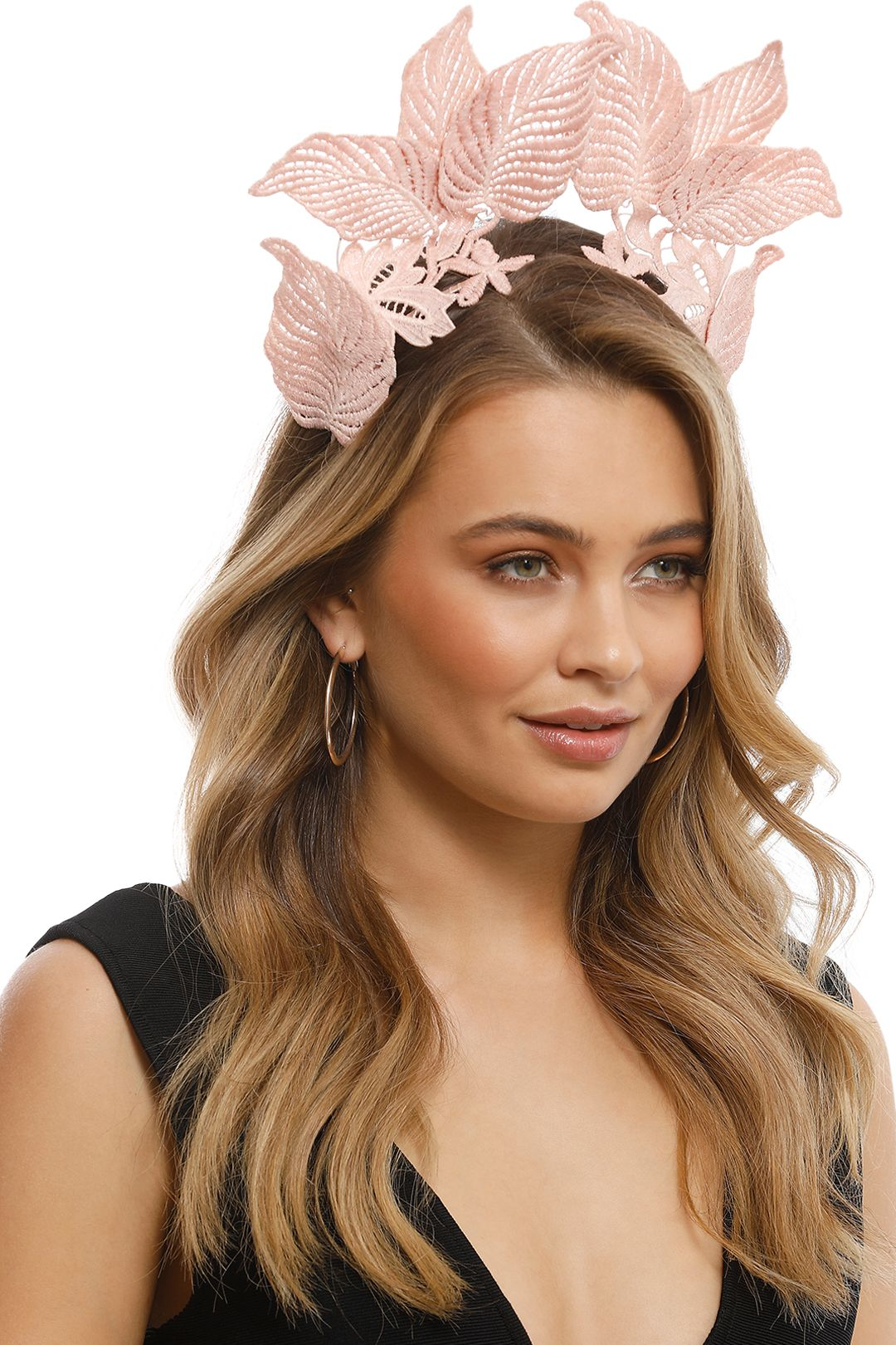 Morgan & Taylor - Florence Fascinator - Dusty Pink - Front