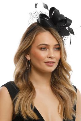 Morgan & Taylor - Jada Fascinator - Black - Front