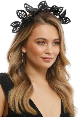 Morgan & Taylor - Jasmine Fascinator - Black - Side Model