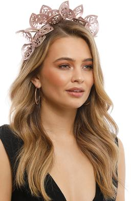 Morgan & Taylor - Jasmine Fascinator - Metallic Rose - Front