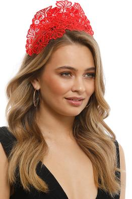 Morgan & Taylor - Kaisha Red Fascinator - Red - Front