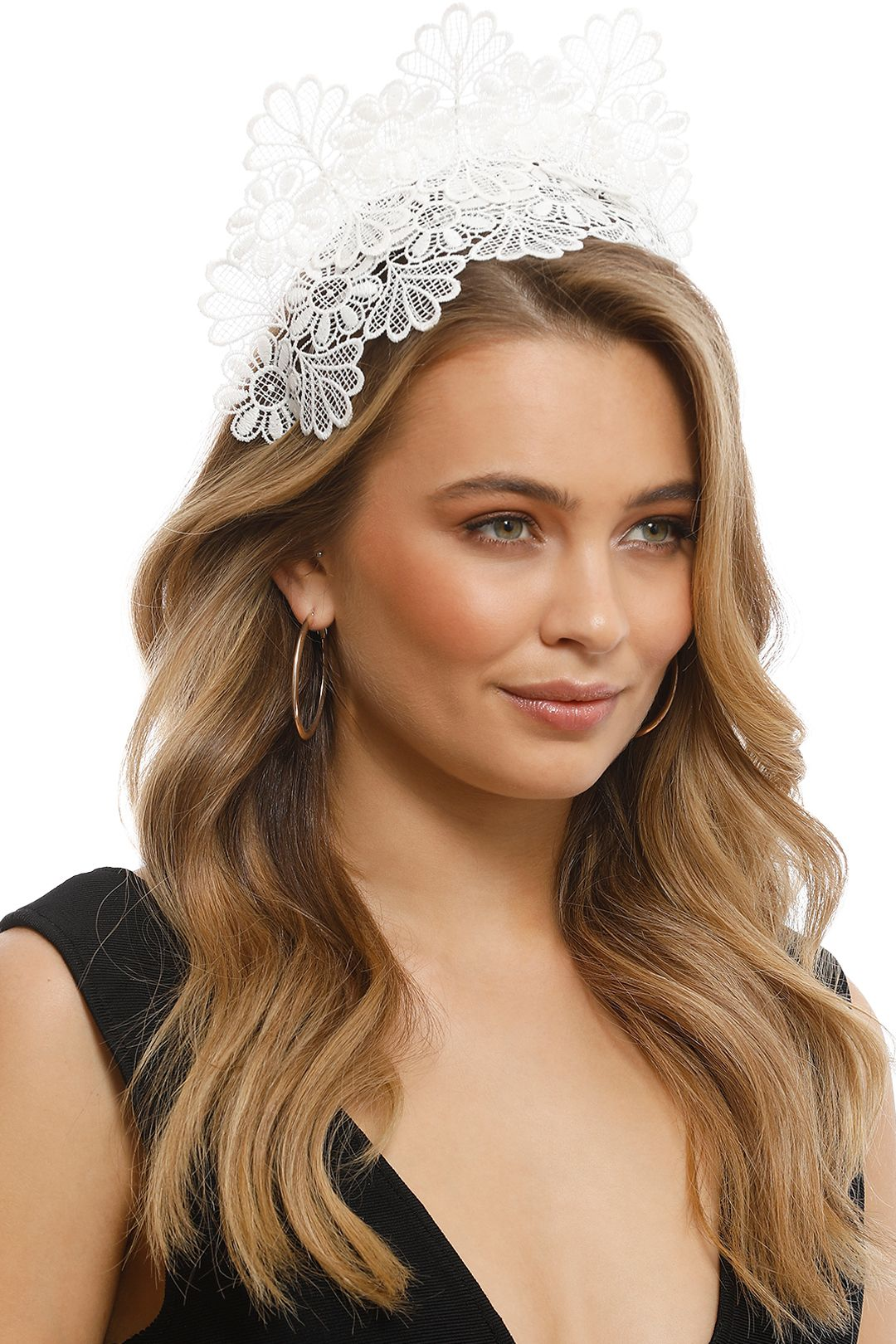 Morgan & Taylor - Kaisha White Fascinator - White - Front